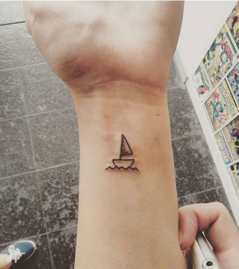 simple sailboat tattoo google search tattoos yeh yeh yeh rh pinterest com Simple Ship Tattoo simple sailboat tattoo meaning