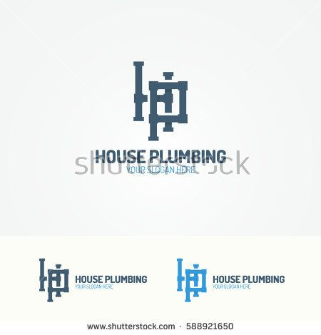Plumbing Service Logo Set With Pipelines For Used And Heating Company Sanitary Hygiene Firm Fix Repair Leak Pipe Etc