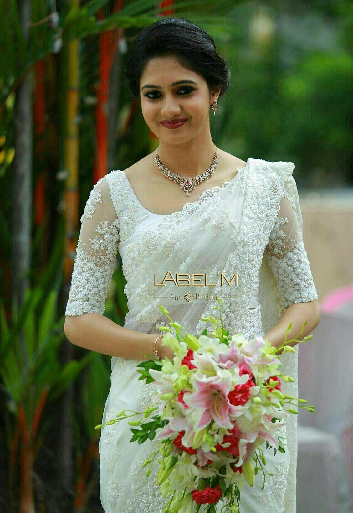 White Saree Christian Wedding Sarees White Indian Wedding Dress Christian Wedding Dress,Middle Aged Classy Summer Wedding Guest Dresses