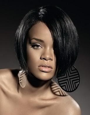 Rihanna Bob Cut Hairstyles 17306 Round Layered Bobs 2 Tunsori