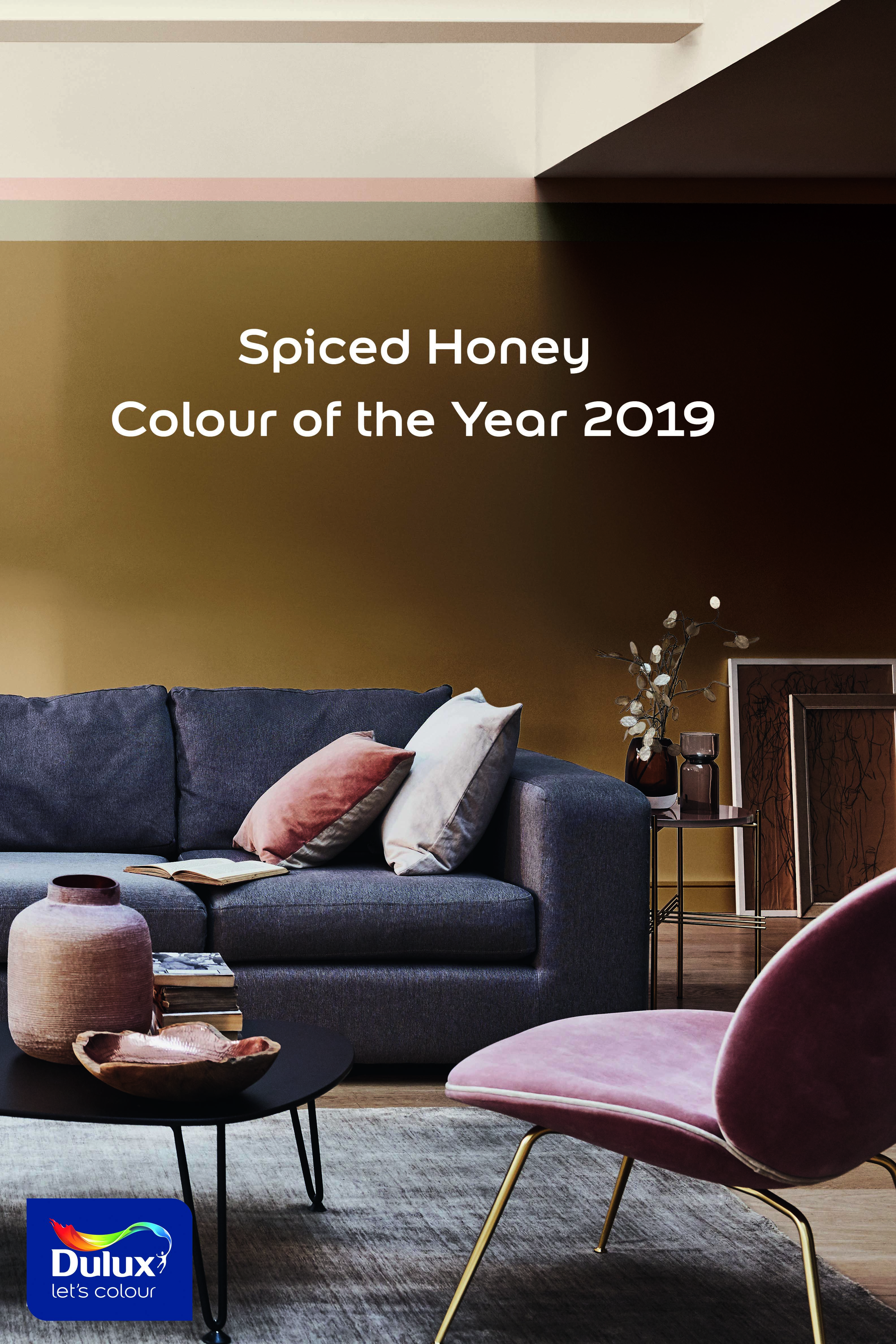 Introducing colour of the year 2019 spiced honey a warm amber tone that is truly versatile and contemporary livingroom livingroomdecor