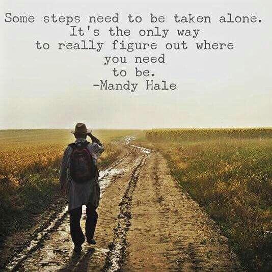 Steps alone