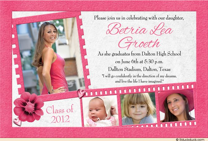 Girly Hollywood Graduation Card With Images Birthday Party