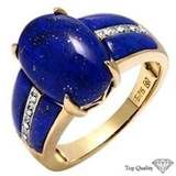 Lapis And Diamond Rings - Bing Images put a diamond in the middle instead of the lapis