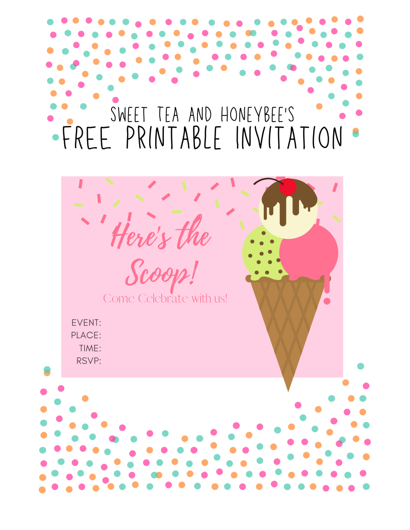 Free Ice Cream Social Flyer Template Elegant 7 Best Images About Work Events On Pinte Ice Cream Social Invitations Ice Cream Party Invitations Ice Cream Social