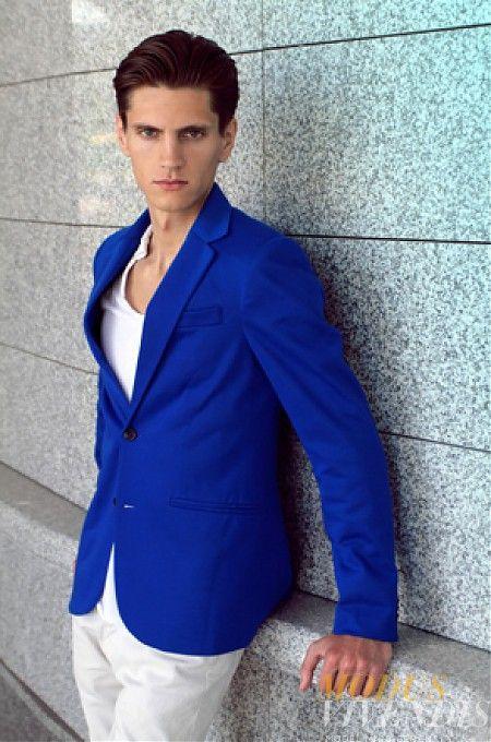Images of Royal Blue Mens Suit - Klarosa