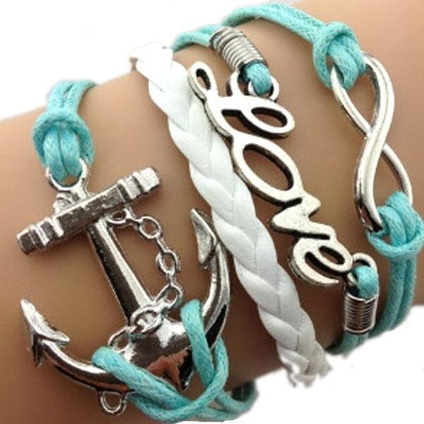 Anchor Love Infinity Bracelet