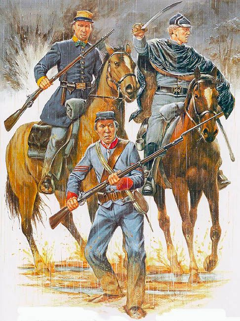 """North Carolina Cavalry & Artillery, 1861-62""  • Trooper, McIntire's Partisan Rangers - Co C, 4th NC Cavalry (59th State Troops)  • Confederate Volunteers - Co C, 5th NC Cavalry (65th NC Troops)  • Sergeant, Brunswick Artillery - Co K, 2nd NC Artillery (36th NC Troops)"