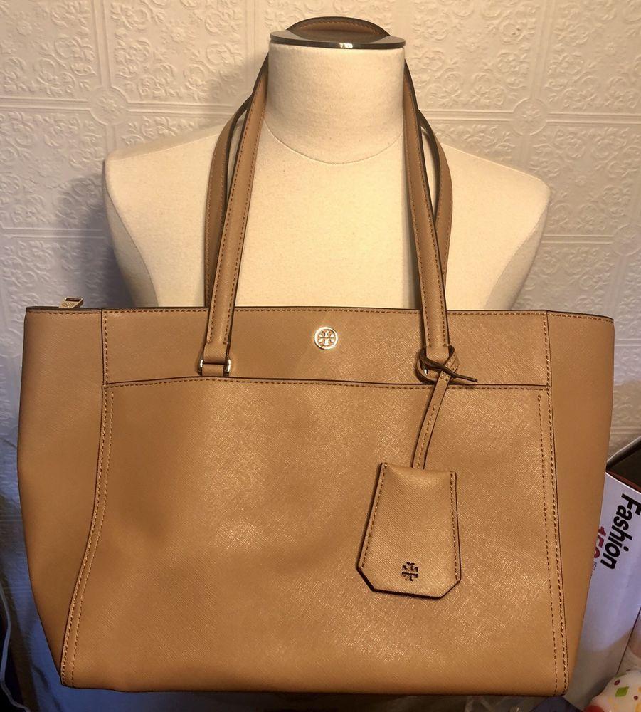ac589ec37055 Tory Burch Robinson Smooth Tote Bag Light Brown NEW  fashion  clothing   shoes  accessories  womensbagshandbags (ebay link)