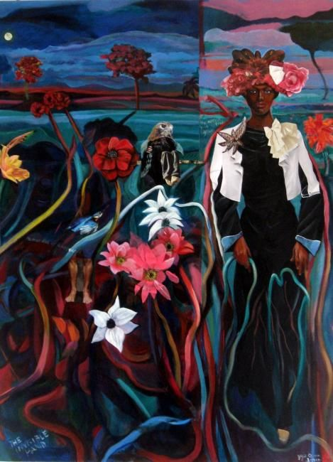 "Joyce Owens  ""Life Support"", 2010 ~  30 x 40 in  ~   The world is in a struggle to stay alive!"