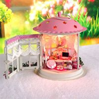 DIY Wooden Dollhouse Miniature Model Kits w/ Light &all furnitures