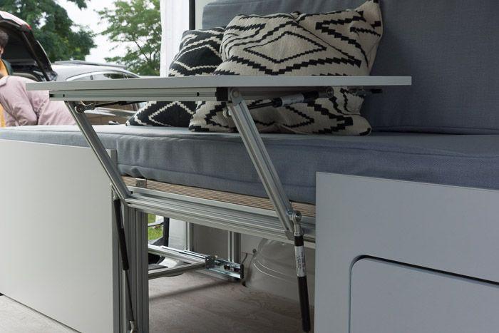 Campingbus Innenausbau zum WohnmobilDas Komplettpaket beinhaltet - klapptisch für küche