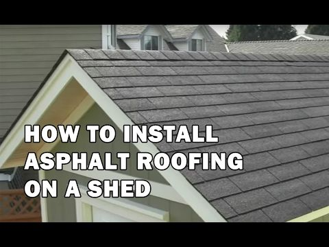 Video 13 How To Install 3 Tab Asphalt Roofing Shingles On The Shed Installing Roof Shingles Shed Plans Building A Shed