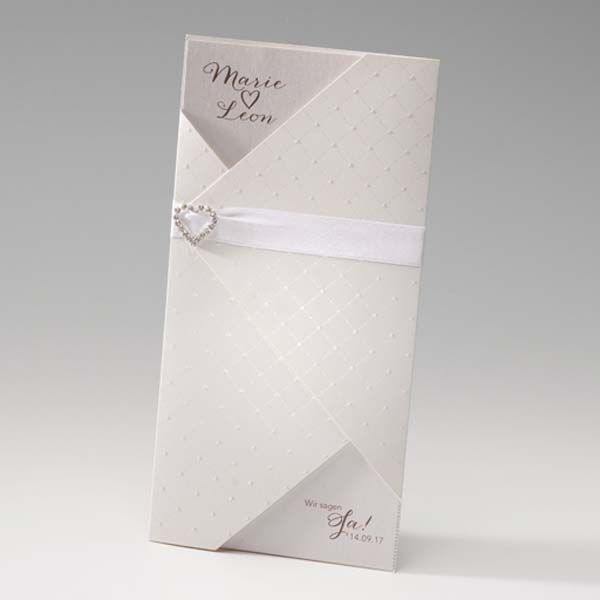Einladungskarte - Audrey - sweetwedding - Hochzeitskarten, Druck, Hochzeitsdekoration, Hochzeitsalben, Gastgeschenke, Einladungskarten, Hochzeit, Dekoration, Gästebücher, Berlin, Stammbücher, Tischdekoration, Karten, Papiere