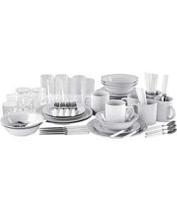 Essentials 60 Piece Dinner Starter Set - White ...