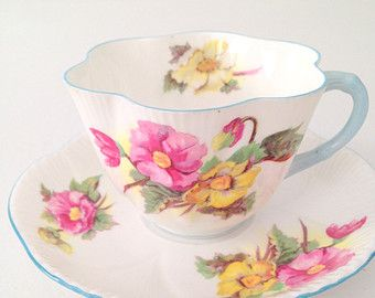Antique Shelley Tea Cup & Saucer Dainty Shape Fine Bone China