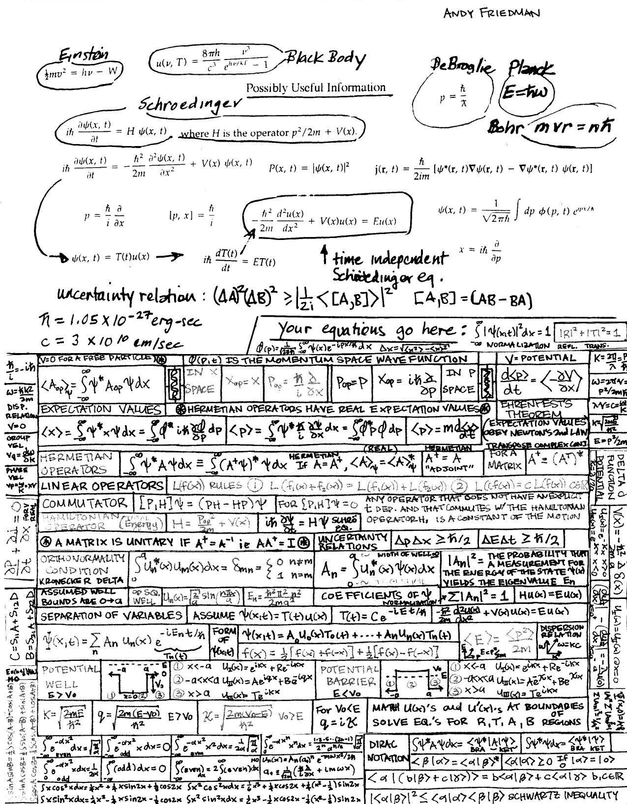 Andy S Quantum Mechanics I P 3