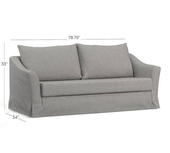 Chaise Lounge Sofa  mypotterybarn SoMa Brady Slope Arm Slipcovered Sleeper Sofa Great for the kids area or