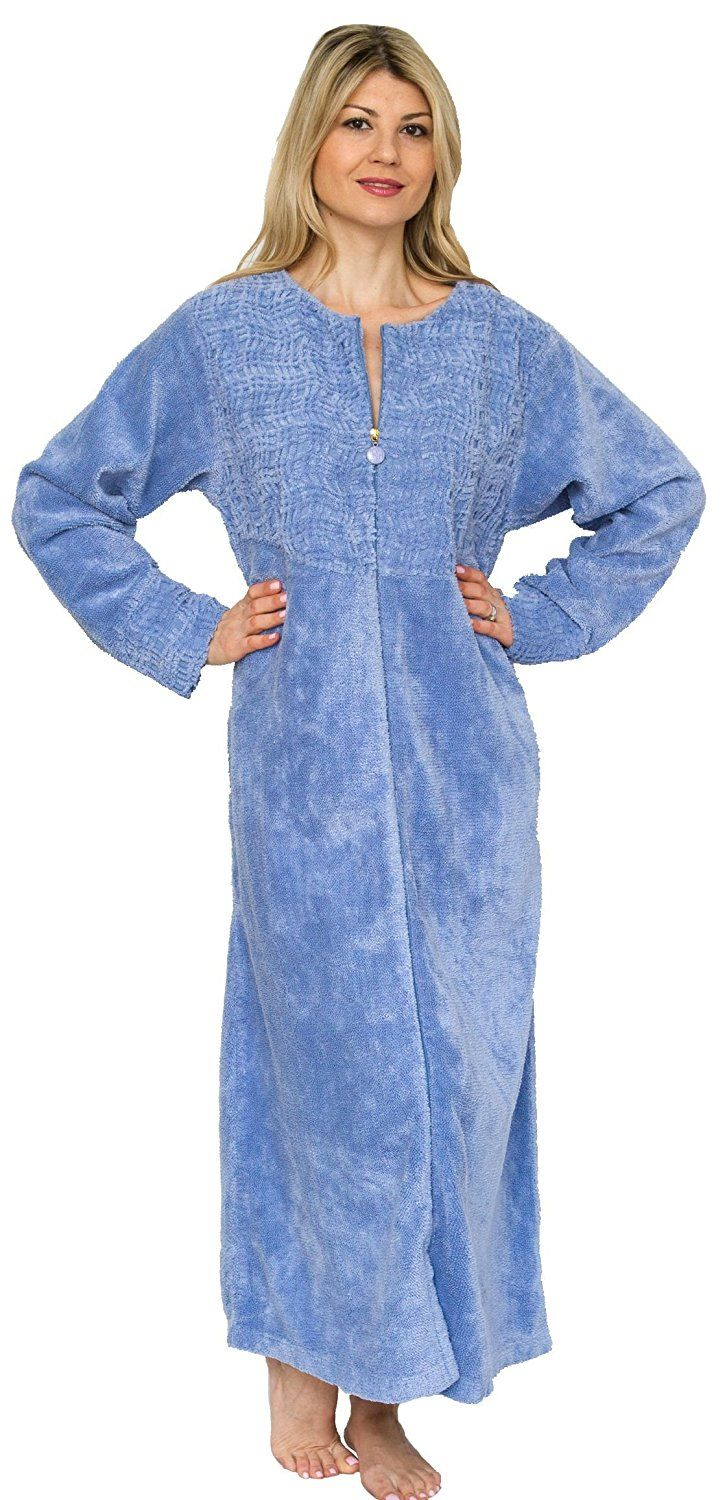 Bath And Robes Womens Cotton Chenille Robe Full Length This Is
