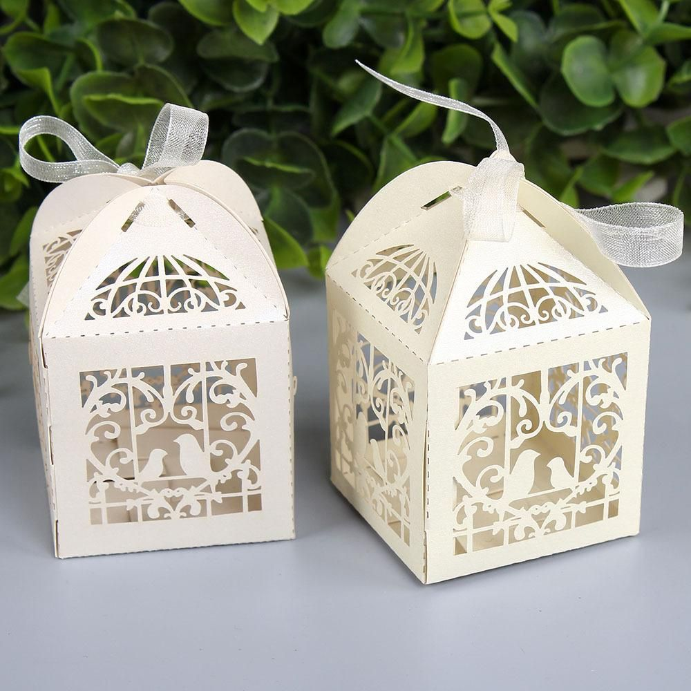 Laser Cut Favor Boxes Weddings Wholesale Luxury Wedding Candy Boexs ...