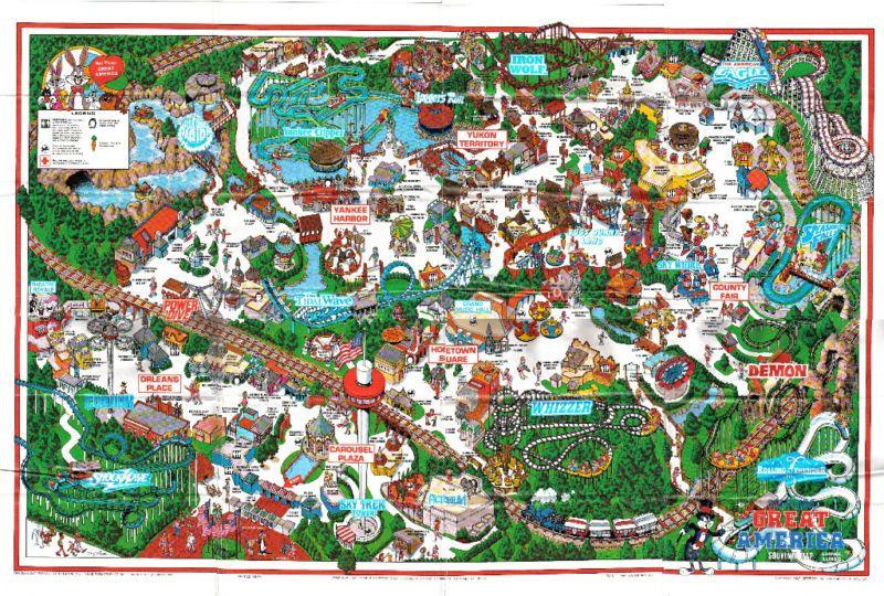 California S Great America Amusement Parks In California Great America Six Flags