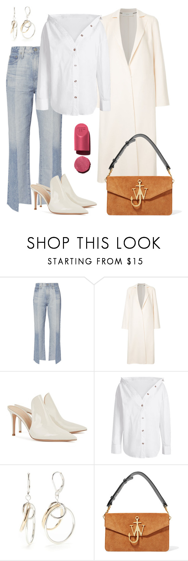 """""""Clean!"""" by schenonek ❤ liked on Polyvore featuring AG Adriano Goldschmied, Cyclas, Gianvito Rossi, Napier and J.W. Anderson"""