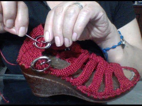 Como colocar una hebilla - YouTube   Crochet   Pinterest   Hebillas ...