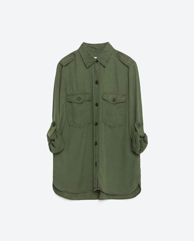 Image 8 of MILITARY STYLE SHIRT from Zara | Camisa militar