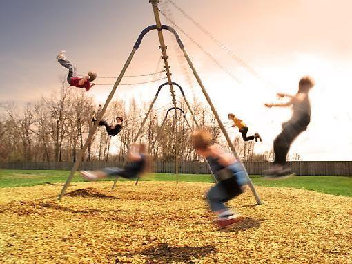 Swinging on a swing
