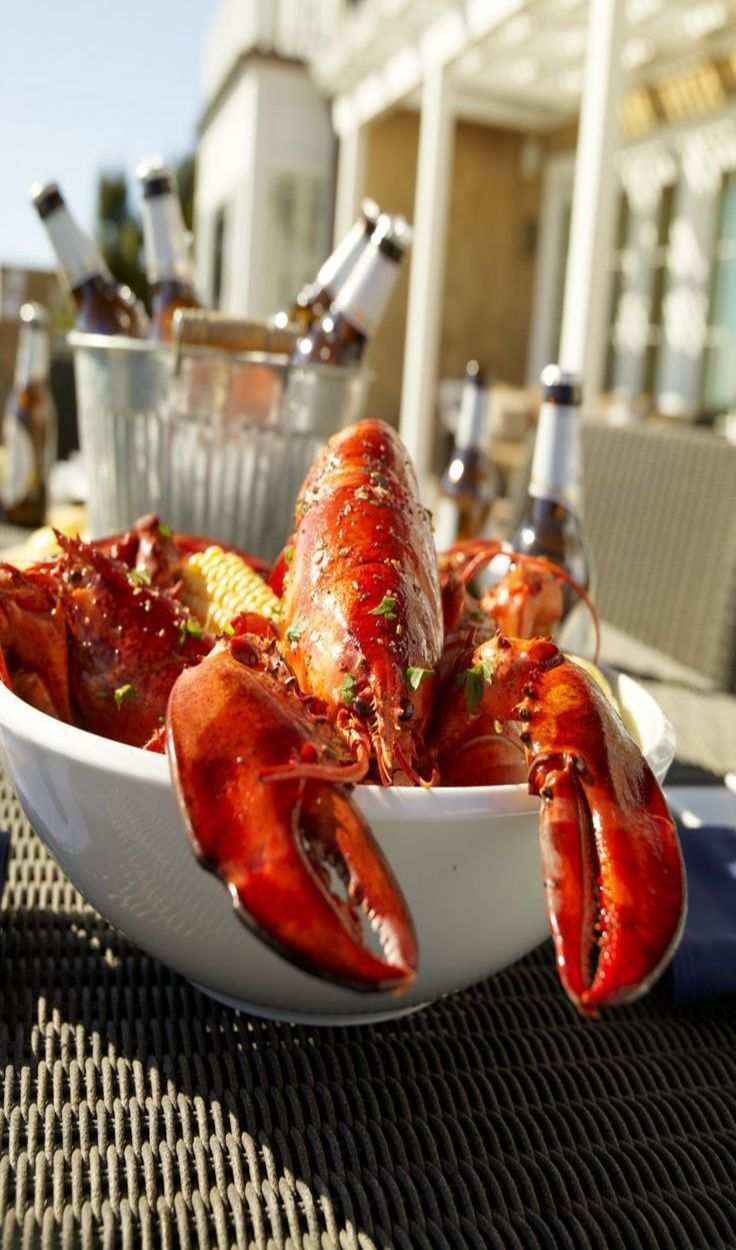 Lobster Dinner Image By Diana Azzato On Summer Clambake Food Luxury Food