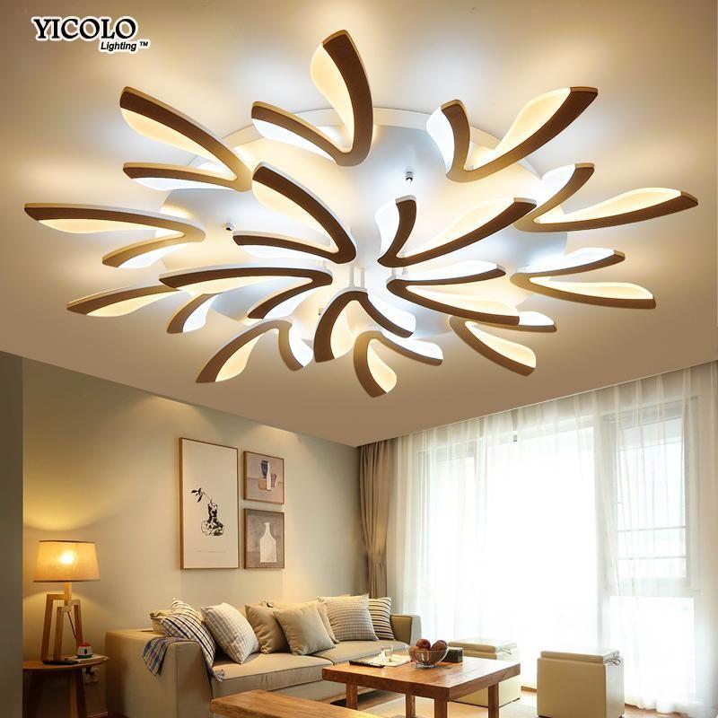 acrylic modern led ceiling lights for living room bedroom dining rh pinterest com
