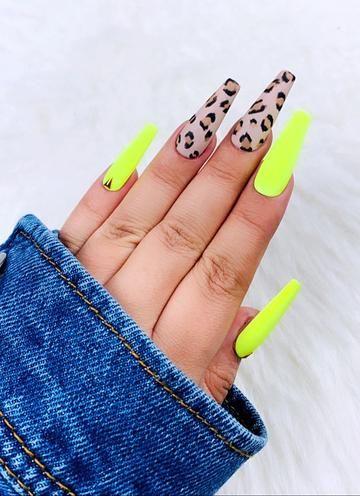 Amoosed Cheetah Nail Designs Cheetah Nails Fake Nails