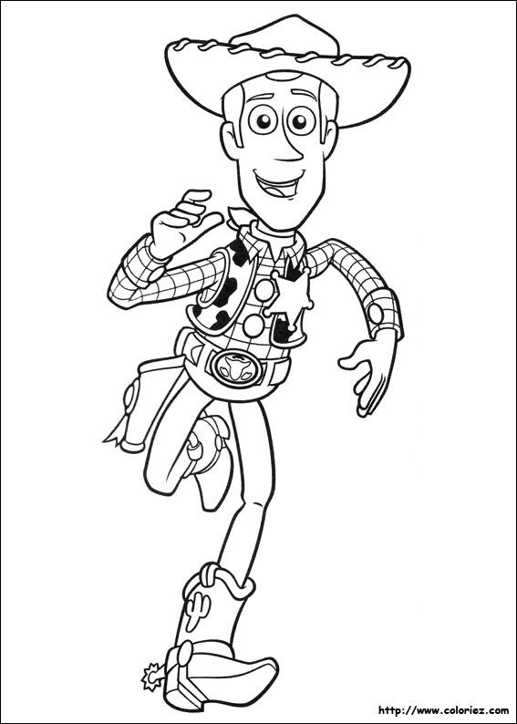 Coloriage Disney Woody.Coloriage De Woody Qui Court Kimmidoll Coloriage
