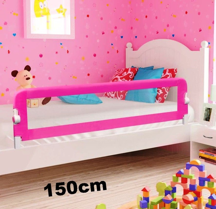NEW 150cm Pink Baby Child Toddler Bed Rail Safety Protection Guard