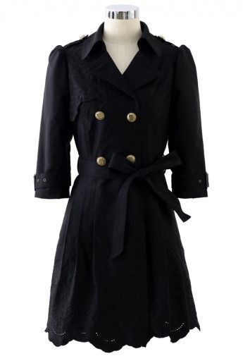 Cute, black coat