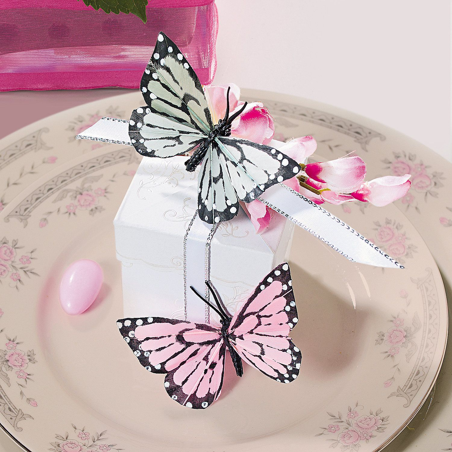 Feather Butterfly Favor Boxes (With