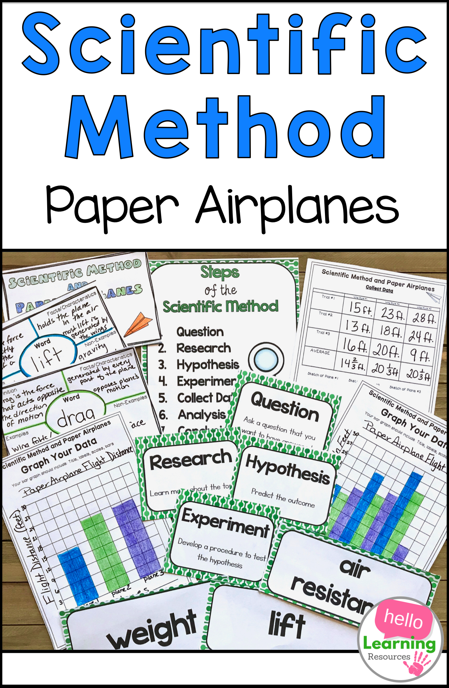 Scientific Method Experiment Paper Airplanes