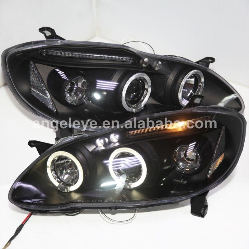 2001 2006 Year For Toyota Corolla Altis Led Head Lamp Headlights Front Light Black Housing Jy