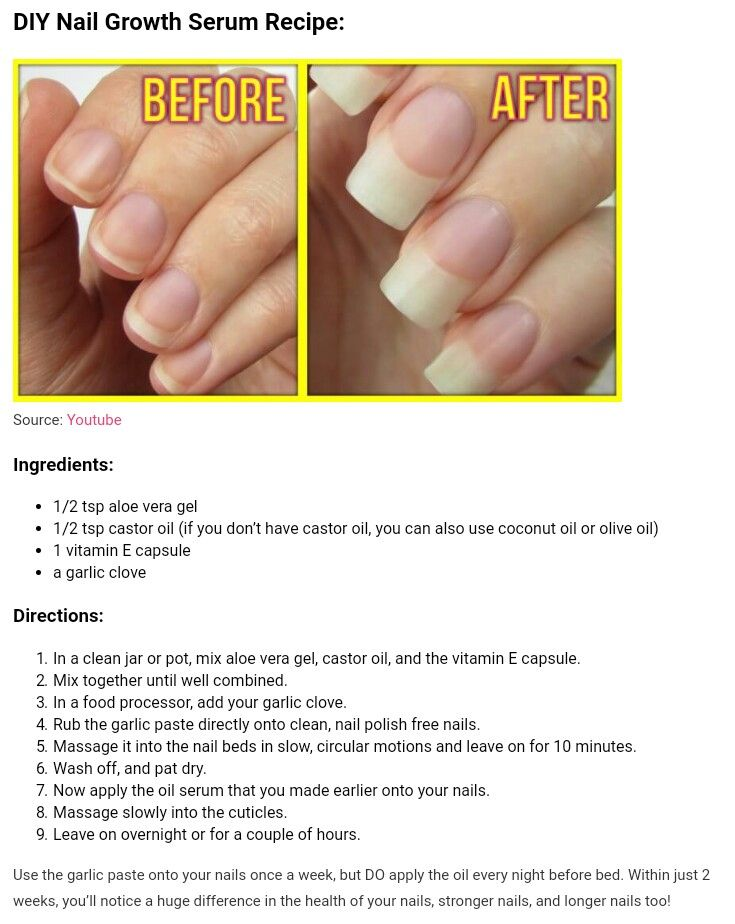 Nail Growth Nail Growth Nail Growth Tips Healthy Nails