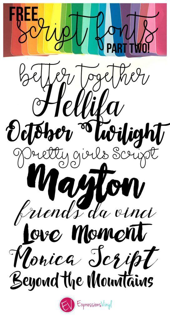 Download Beautiful FREE Script Font Roundup | Silhouette fonts ...
