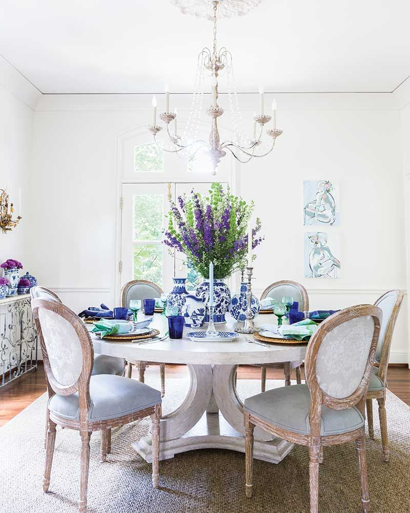 a neutral background is the perfect foundation for the deep blues rh pinterest com