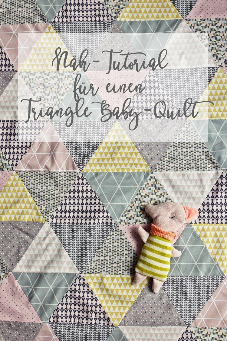 Noch Ein Triangle Baby Quilt Und Endlich Meine Näh Anleitung Für Eine Babydecke Mit Dreieck Muster