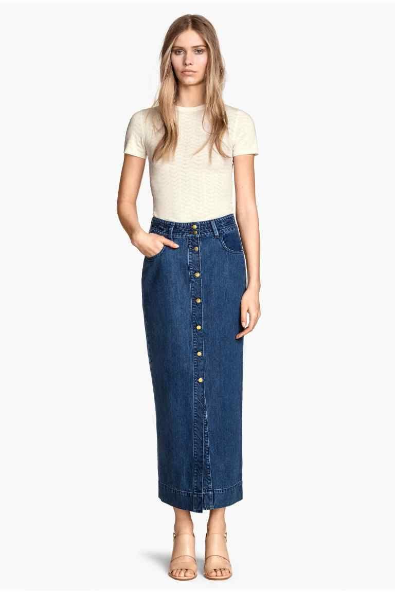 25d607d681c7 Jupe longue en jean