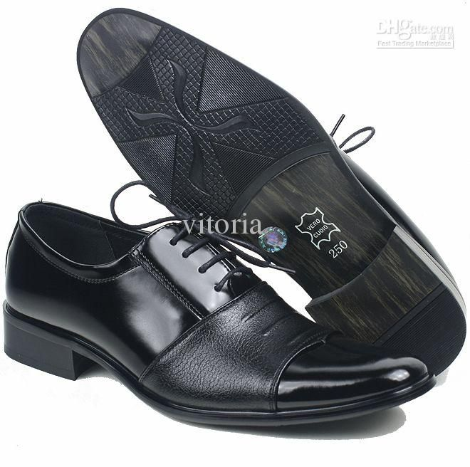 4886 New Italy Men Leather Shoes Mens Casual Wedding Dress Black Size