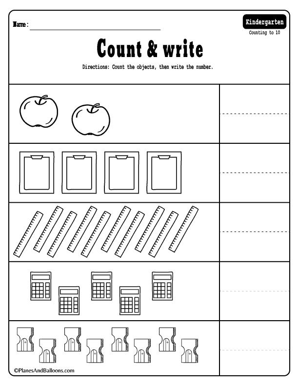 Free Addition Worksheets For Kindergarten Pdf
