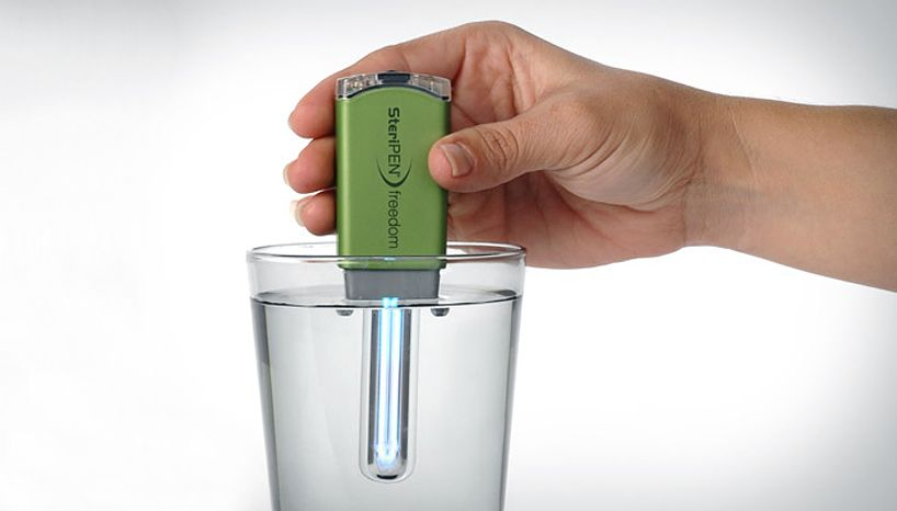 Portable water purifier by steripen.