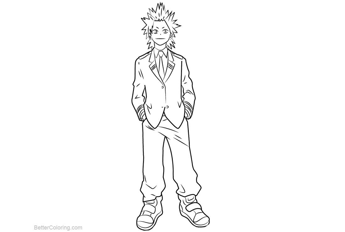 Free My Hero Academia Coloring Pages Eijirou Kirishima Printable For Kids And Adults You Can Download And Coloring Pages Horse Coloring Pages My Hero Academia