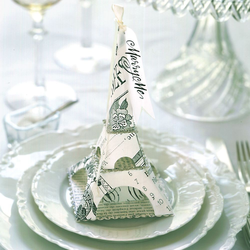 D. Sharp: Vintage Inspired Eiffel Tower Favor Box, Paper Candy ...