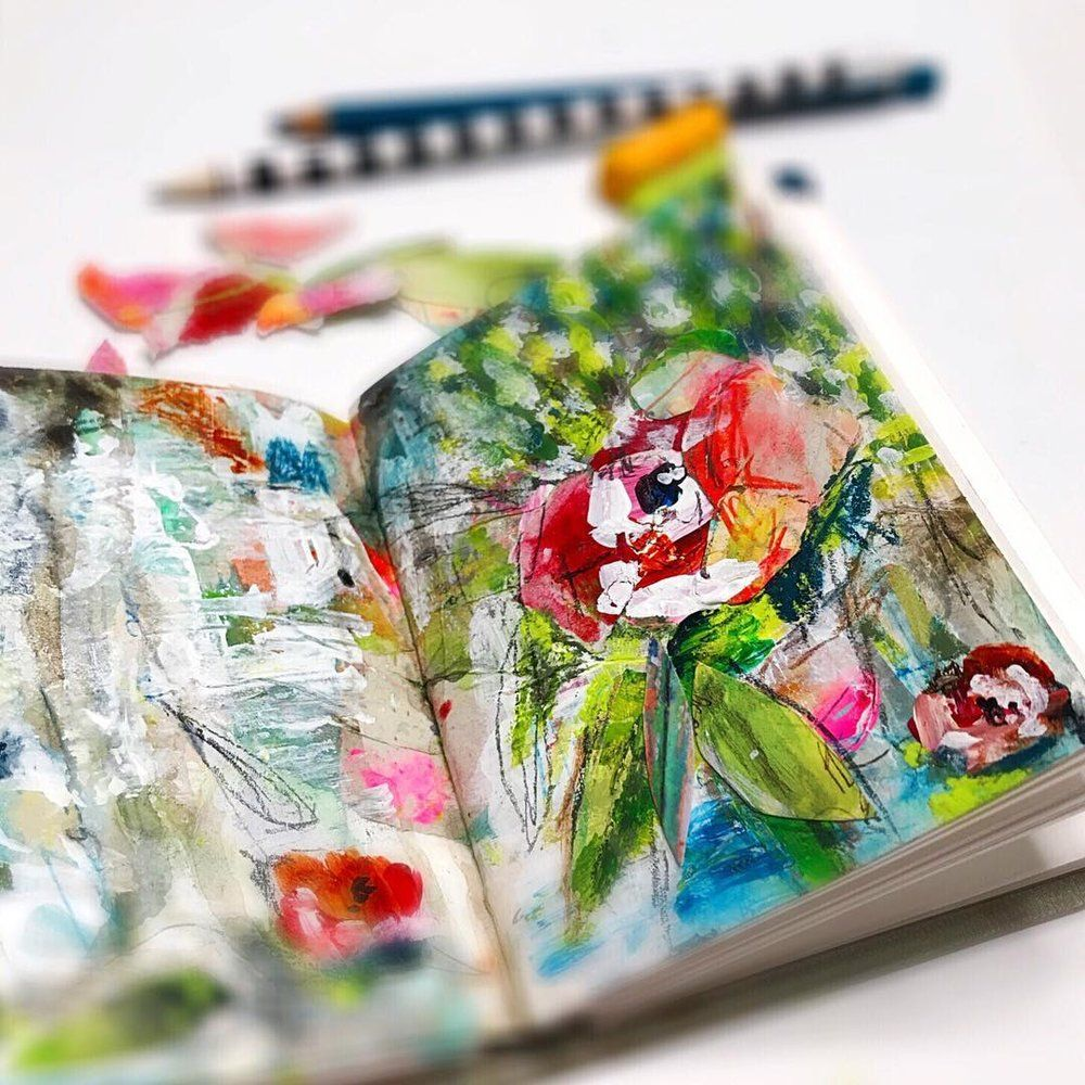 Reflections On A Daily Creative Practice Art Journal Pages Art