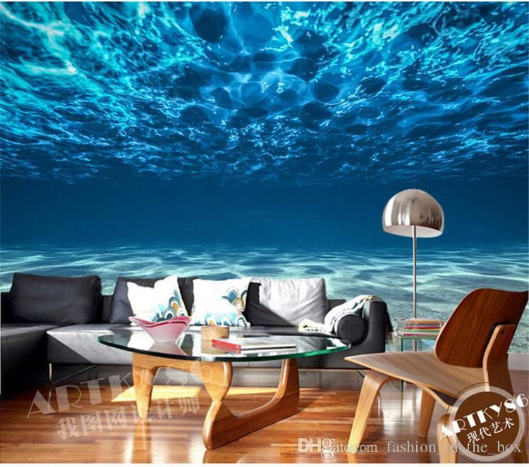 Charming Deep Sea Photo Wallpaper Custom Ocean Scenery Wallpaper